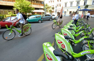 Public bike-sharing system MOL Bubi by T-Systems Hungary