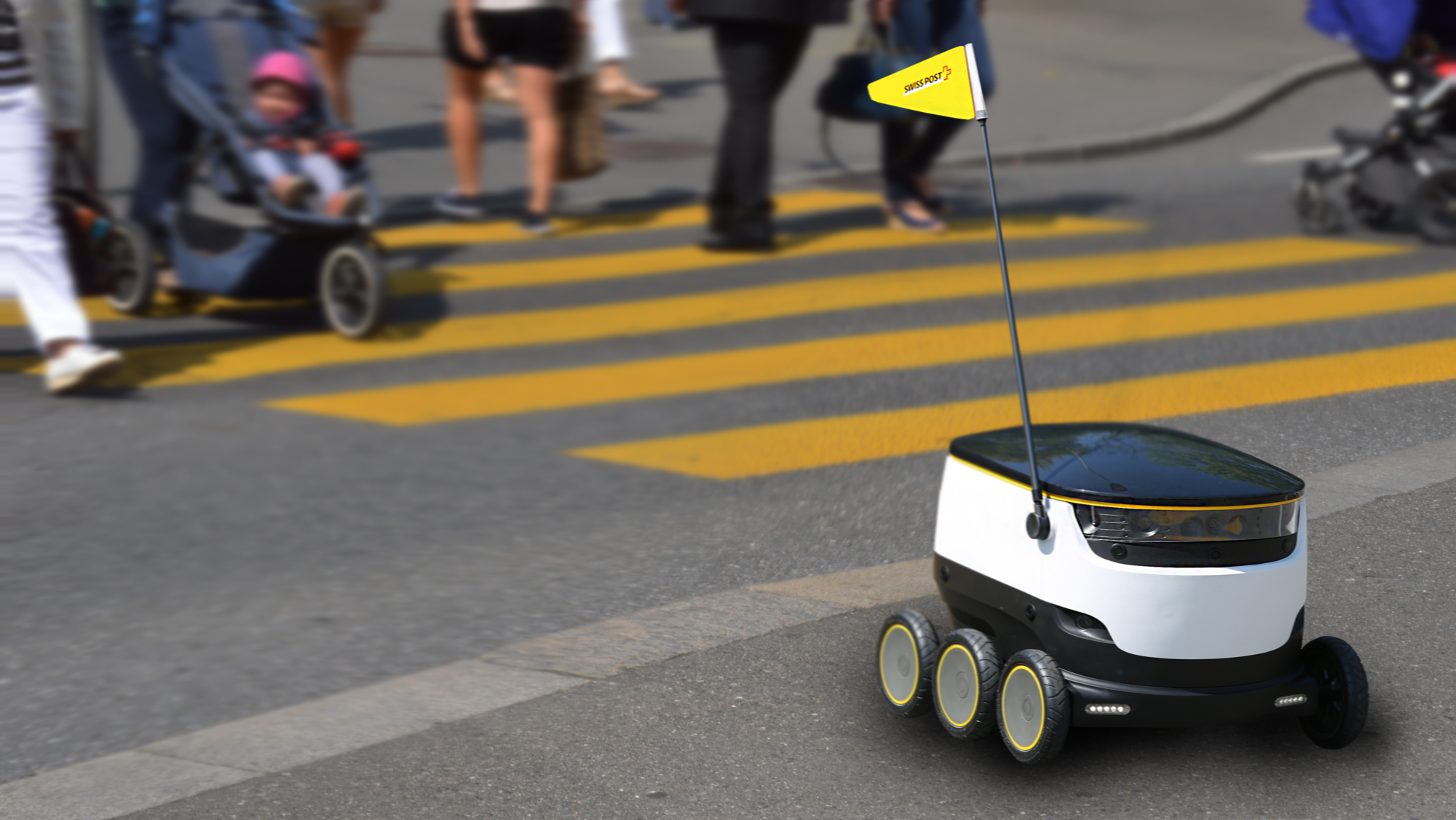 Delivery robot by Swiss Post